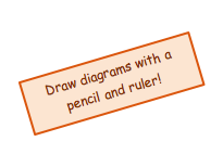 Draw diagrams with a pencil and ruler!